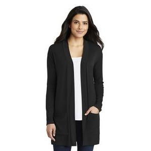 Port Authority® Ladies' Concept Long Pocket Cardigan Sweater