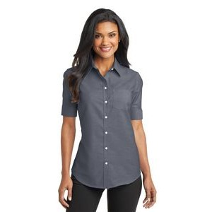 Port Authority® SuperPro™ Ladies Short Sleeve Oxford Shirt