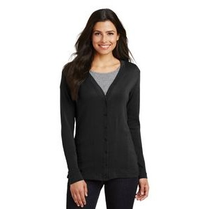 Port Authority® Ladies' Modern Stretch Cotton Cardigan Sweater