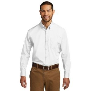 Port Authority® Long Sleeve Carefree Poplin Shirts