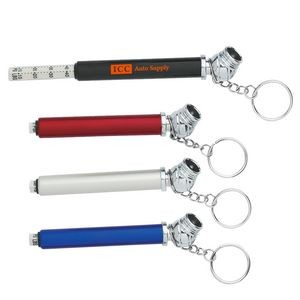 Mini Tire Gauge Key Chain