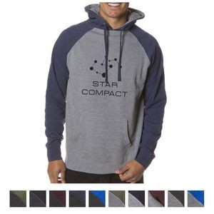 Independent Trading Company Men's Raglan Hooded Pullover Sweatshirt