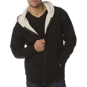Independent Trading Company Men's Sherpa Lined Zip Hooded Sweatshirt