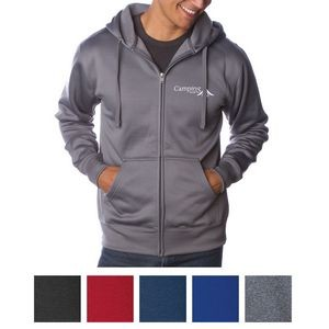 Independent Trading Company Men's Poly-Tech Zip Hooded Sweatshirt