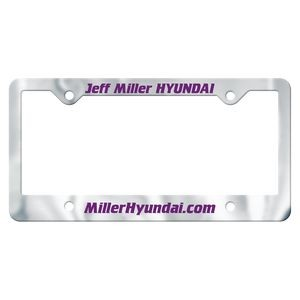 Chrome Faced Auto License Frame w/ 4 Holes & Large Bottom Panel
