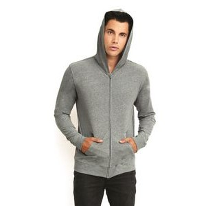 Next Level Sueded Hooded Long Sleeve Full Zip Sweater