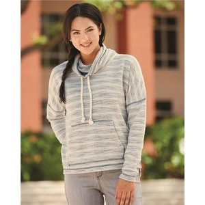 J. America Women's Baja French Terry Cowl Neck Pullover