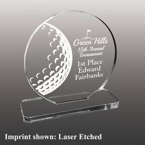 Small Golf Themed Etched Acrylic Award