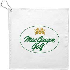 12x12 Sublimated Golf Towel w/Grommet - 200 GSM (Direct Import-10 Weeks Ocean)