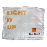 Light Up White LED Rally Towel (Priority)